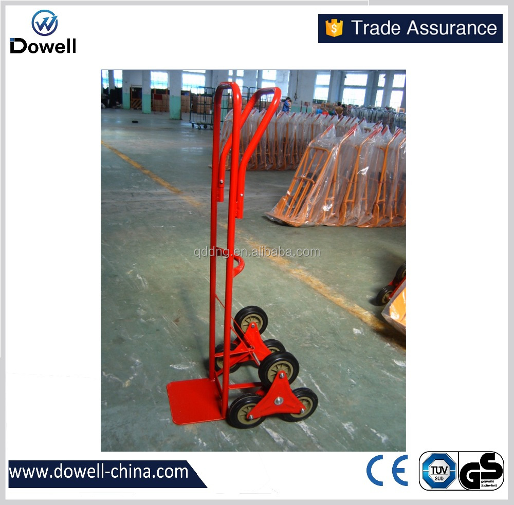 six wheel hand trolley/truck for climbing stairs HT0102six whees climb stairs warehouse Hand Trolley Qingdao good quality