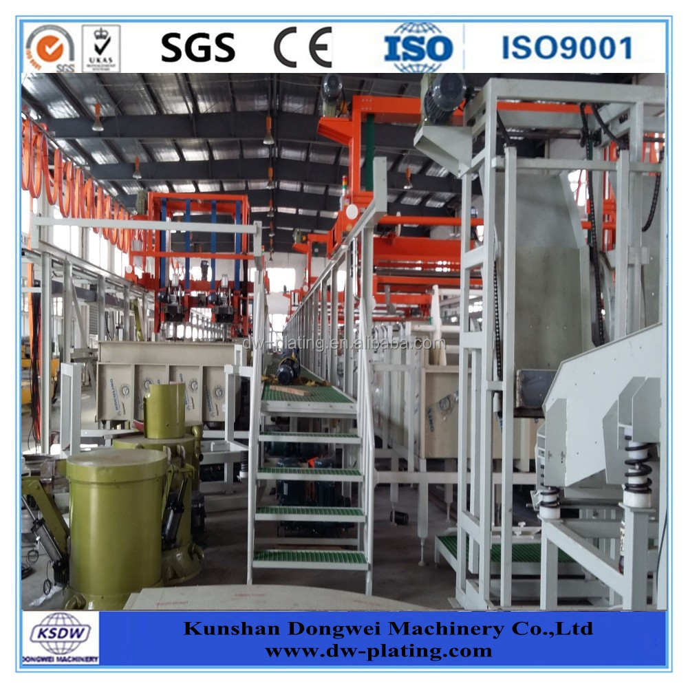 Barrel plating plant for screw, nut and bolt