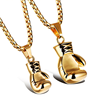 Custom Pendant Stainless Steel Sport Gold Boxing Glove Pendant Necklace