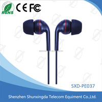High quality In-Ear black Stereo Headset Earbuds mobile Earphone for all mobile phones with speaker, get free samples