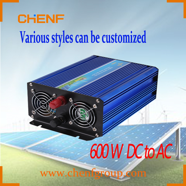 CHENF 600w solar and wind power Pure sine wave single phase DC to AC inverter 48v with battery charger