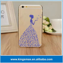 New arrived printed crystal cases for iphone 6 4.7 inch diamond PC hard mobile phone cover for iPhone 6 plus