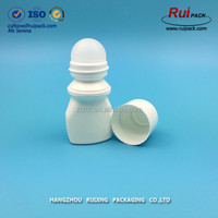 30ml matte white color deodorant empty roll on bottle