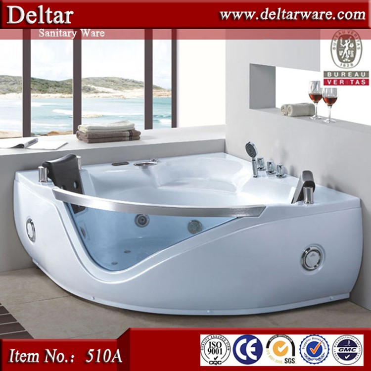 hot sale Massage jacuzzy price, Larege 2 Persons small size corner jacuzzy