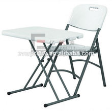 White plastic outdoor furniture ,white plastic folding desk with chair ,family outdoor picnic desk chair