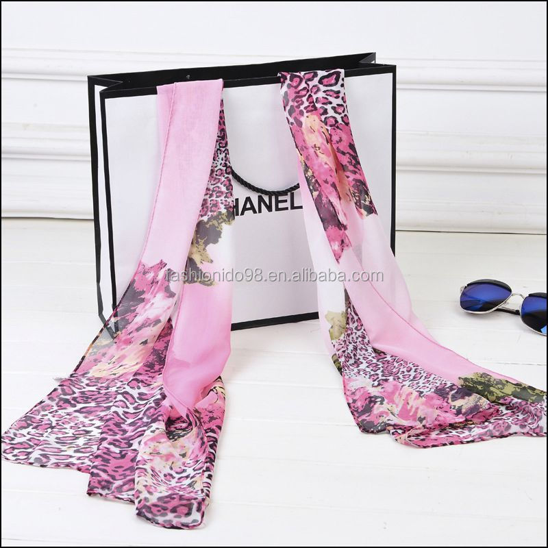 YiWu Factory Multicolored scarf hangzhou silk 100% Silk scarf and shawl