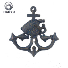 Antique iron casting wall mount decorative anchor key coat hook crafts for sale