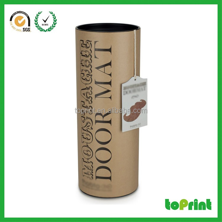 Custom Handmade Tube Tea Paper Packaging Cylinder Box black tea tubes package for wholesale