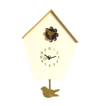Antique handmade screen printing cuckoo clock