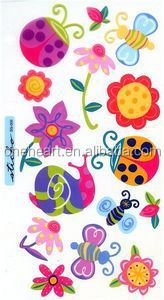 Hot Sale Coustom Bugs & Flowers Sticko Stickers vinyl sticker