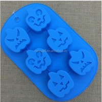 creative fancy halloween pumpkin shaped silicone cake mold for cake decoration halloween gifts