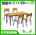 SF-15C Rectangular Wooden Kids Table and Chairs Children Dining Table