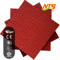 IAAF Red Color synthetic rubber floor covering for standard stadium