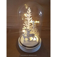 Promotional Party Gift Christmas Home Glass Dome With LED Accessories Decoration