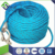 Double braided nylon reflective dock line with eye splice and shackle
