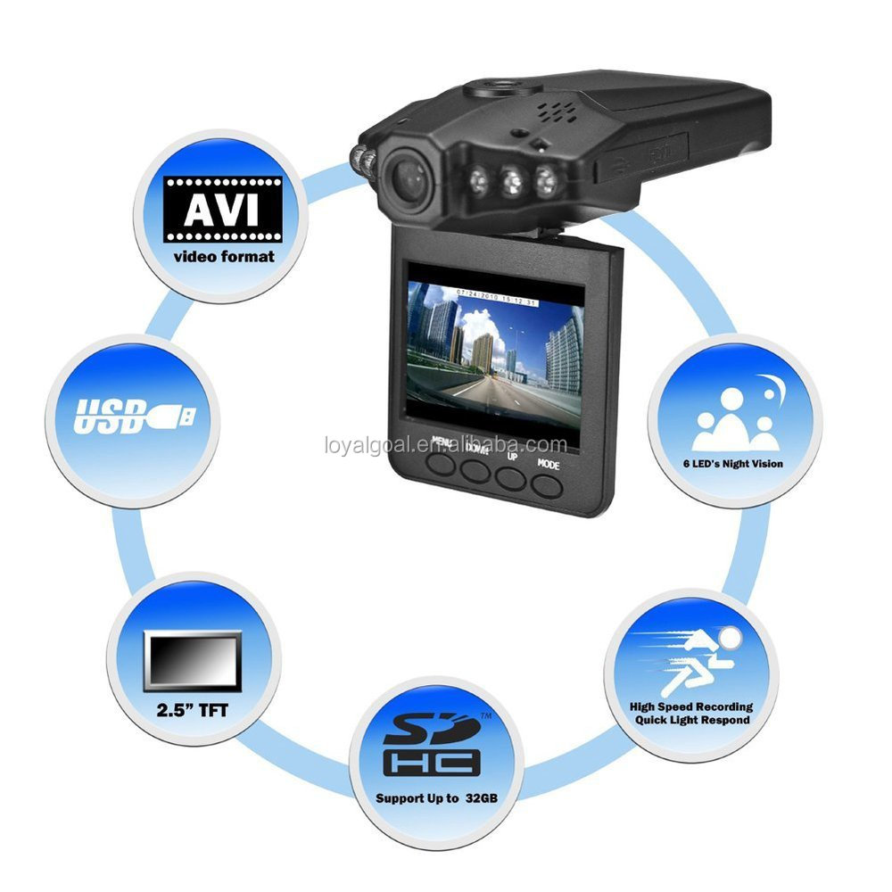2015 Hot Sale Car Dvr Camera H198 HD 720P 2.5 Inch TFT Night Vision Cheapest Car Dash Cam