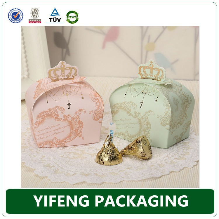 2015 Cheap Wedding Door Gift Boxes, Competitive Price Wedding Candy Box
