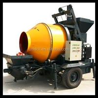 Portable Electric Mortar Mixer Skid Steer Trailer Mortar Concrete Mixer Pump Diesel Mobile Concrete Grout Pump Trailer