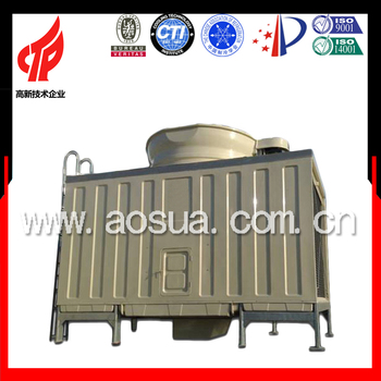 CE Certificate AOSUA 100T square cross flow cooling tower