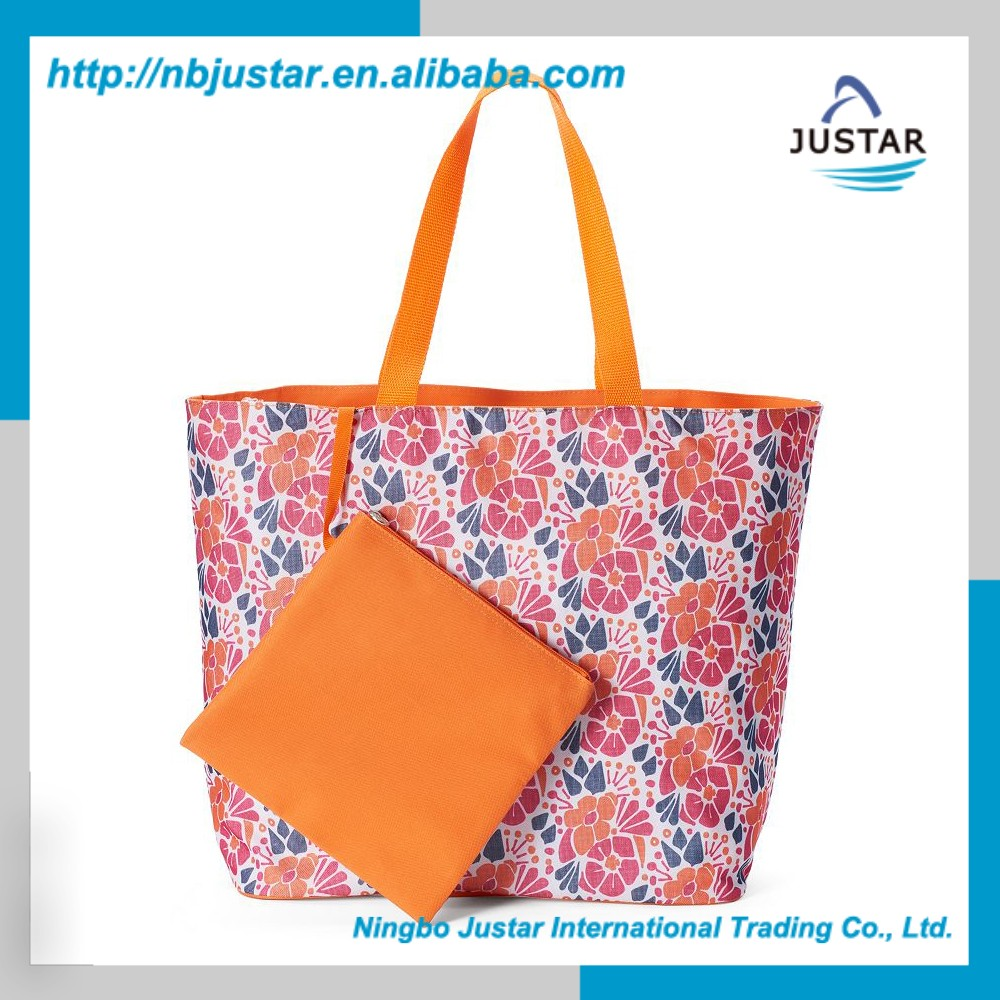Waterproof Nylon Material Printed Floral Pattern Beauty Trendy Female Bags Designer Hand Bag for Lady's