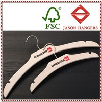 LF046S Fashion brand custom laminated wooden hanger/plywood hanger