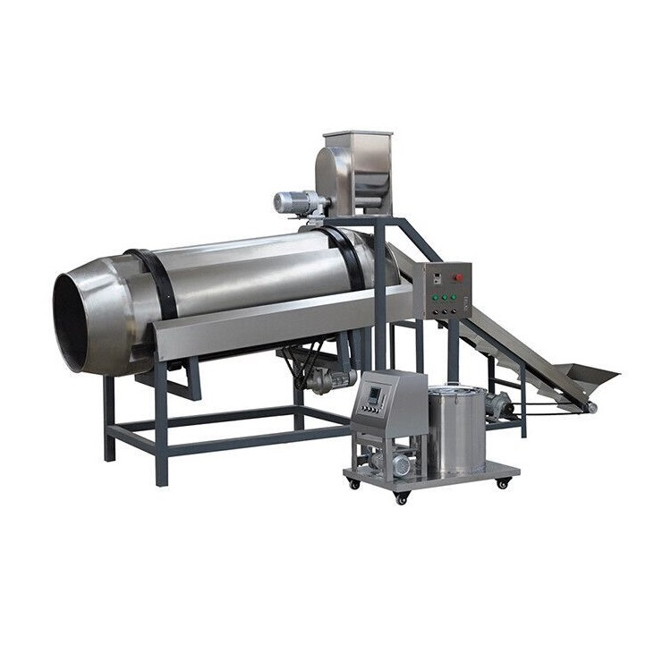 Snack seasoning machine/Potato chips flavoring machine/Automatic Sugar Coating Machine Flour coated peanut production <strong>line</strong>