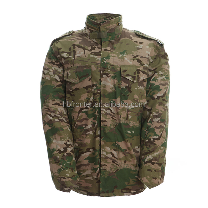CP Twill Multicam Camo Cheap Waterproof Windproof Mlitary Jacket M65 parka