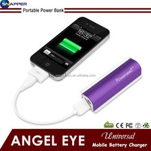 "Mini 2600mah External Battery Pack Compact ""Lipstick"" Size USB Universal Portable Power Bank Charger for phone"