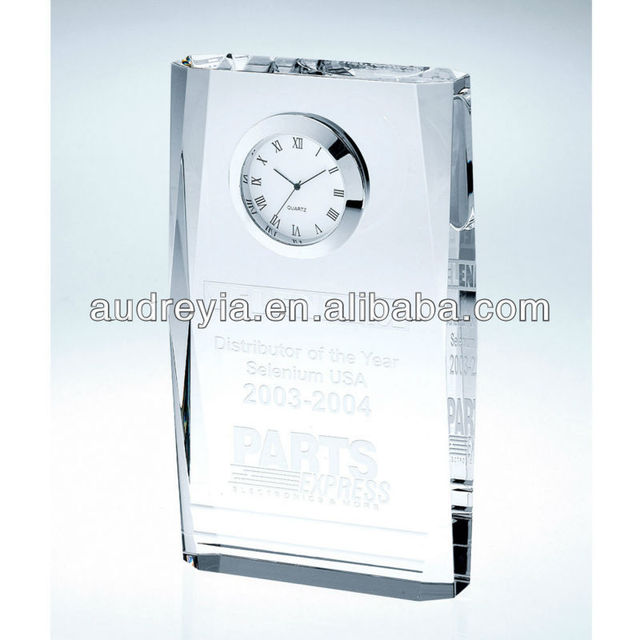 crystal beveled clock plaque souvenir gifts