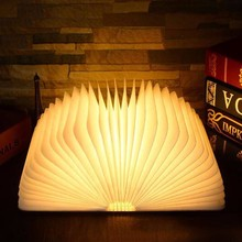 Cute Design Night Light USB Rechargeable Book Shape Folding Lumio Led Book Lamp, New Products 2017