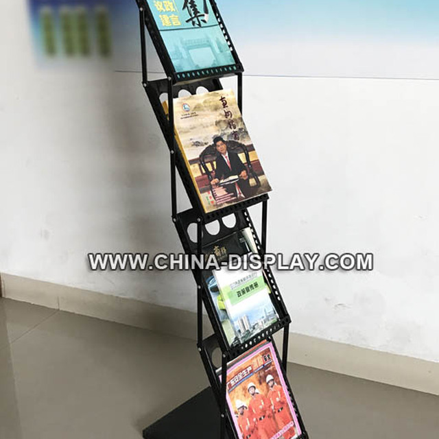 Wholesale brochure display A4 metal magazine rack
