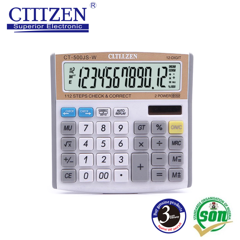 All purpose solar power Desk Calculator