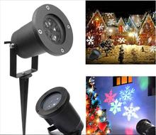 China Factory Outdoor Waterproof LED Christmas Projection Light Laser Snowflake Lighting IP65 Garden Use LED Lawn Light