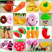 Dog Puppy Pet 3D Vegetable Chicken Carrot Chew Play Squeaky Sound Plush Toys