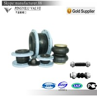 din/oil resistant/epdm/pn16/galvanized single bellow rubber expansion joints