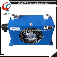 plate fin 60L/min aluminum hydraulic fan cooled oil cooler