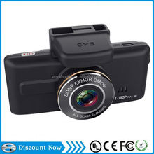 touch screen dash cam 1080p FULL HD car dvr Sony chip Wide dynamic super night vision GPS dashcam with av input