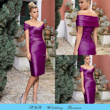 New Arrival Vintage Elegant Plus Size Knee Length Sheath Groom Mother Dress Eggplant Mother of the Bride Dresses 2015(MM09)