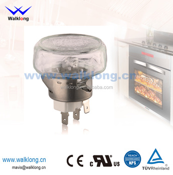 G9 Big Flat Lens Stainless Steel High Temperature Oven Lamp