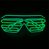 Halloween Christmas party decoration sound activated EL Wire Glasses