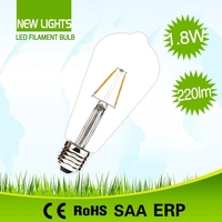 Fluorescent lamp replacement halogen 20w chip LED tungsten st64 led filament bulb ul e27