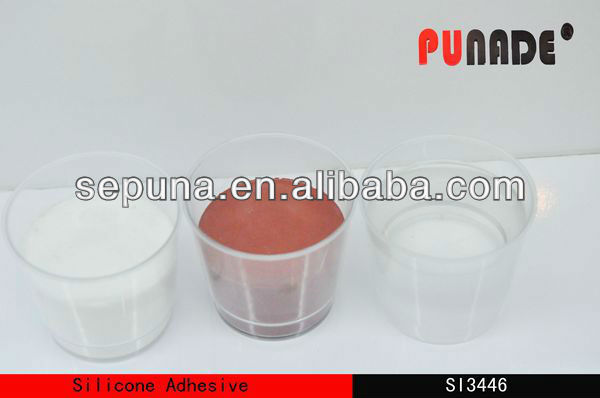Fast heating cured organic silicone adhesive SI3446