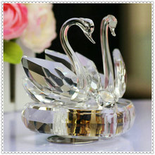 Crystal Sparking Swan Music Box for Wedding Decoration