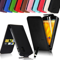 Leather Wallet Pouch Case Cover For LG Google Nexus 4 E960