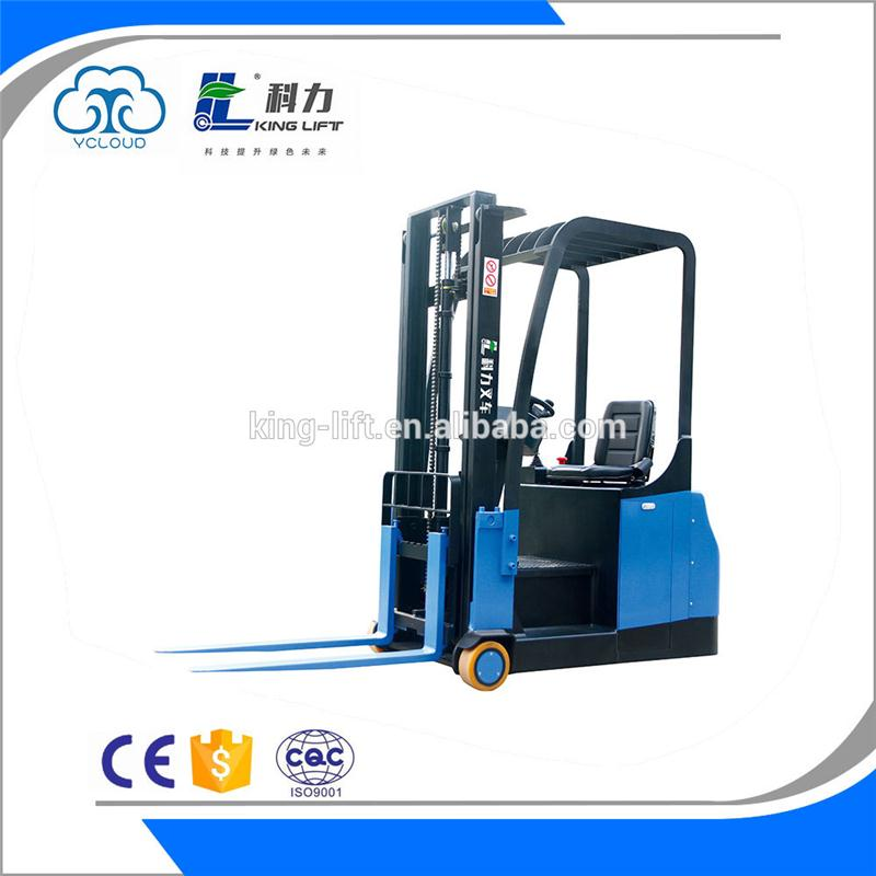 Multifunctional 3 wheel electric forklift truck for wholesales KLA-B