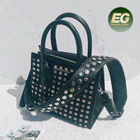 Newest PU leather handbags fashion tote shoulder bags studded hand bag on sale SY8422