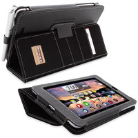 Snugg case for Nexus 7 Executive Case Cover and Flip Stand in Black Leather