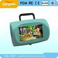 7'' portable dvd players led tv dvd movies with boombox for sale