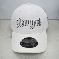 3D embroidery sport baseball hats and fashion caps hat white polyester NEW YORK