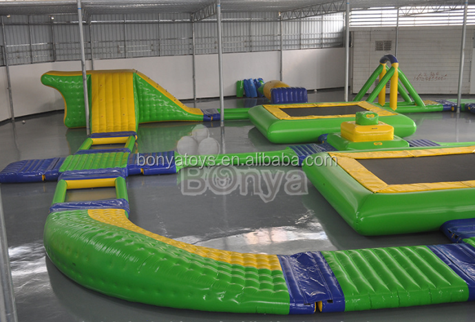 Hot new top quality giant inflatable water trampoline park